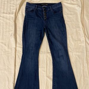 Express High Waisted Bell Bottom Flare Jeans